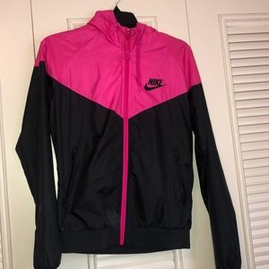 Pink and black nike jacket